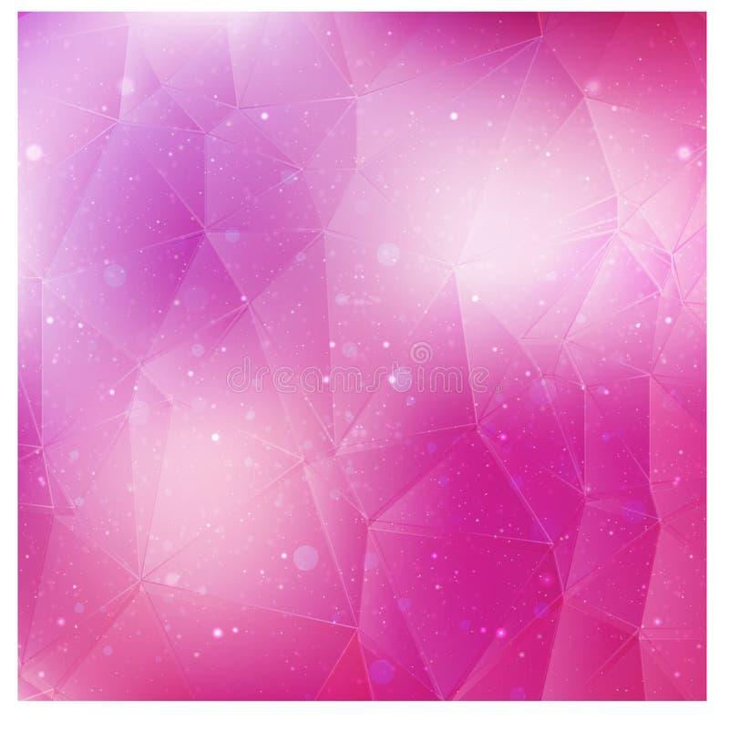 Rosa bakgrund för vektor med stjärnor vektor illustrationer