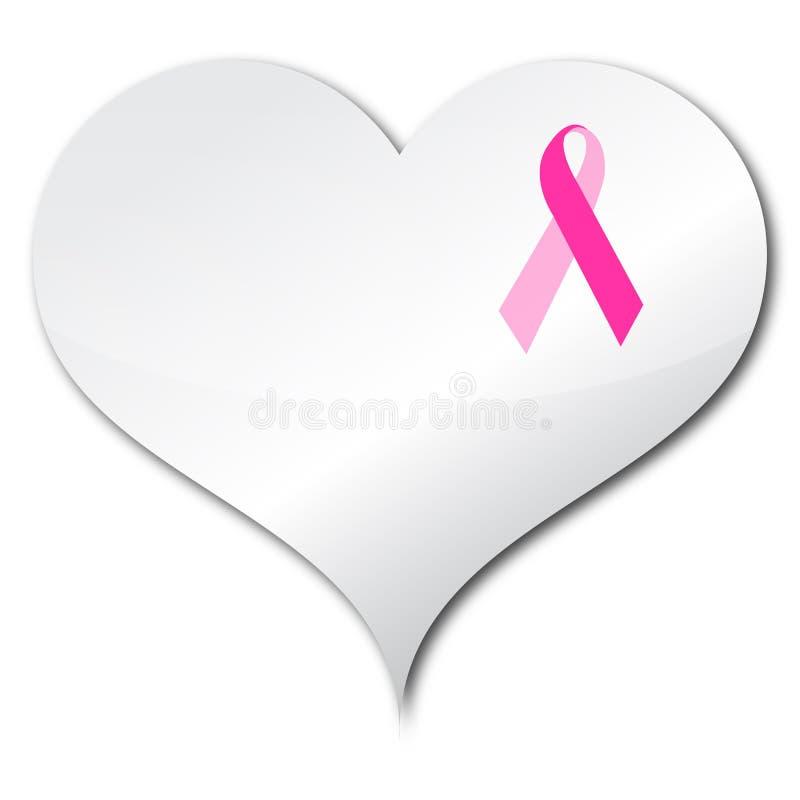 rosa band för hjärta royaltyfri illustrationer