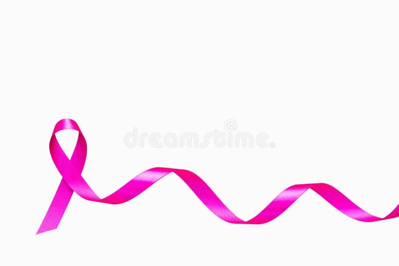 Rosa band- och cancertecken royaltyfri fotografi