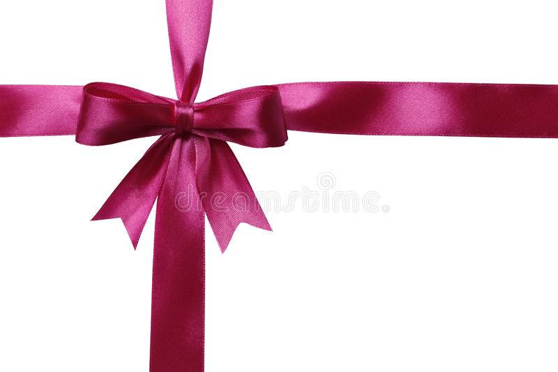 Rosa band och pilb?ge som isoleras p? vit bakgrund vektor illustrationer