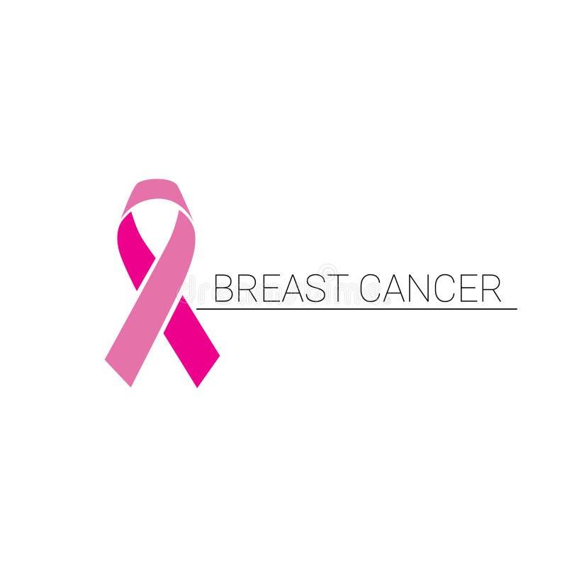 Rosa bandbröstcancermedvetenhet royaltyfri illustrationer