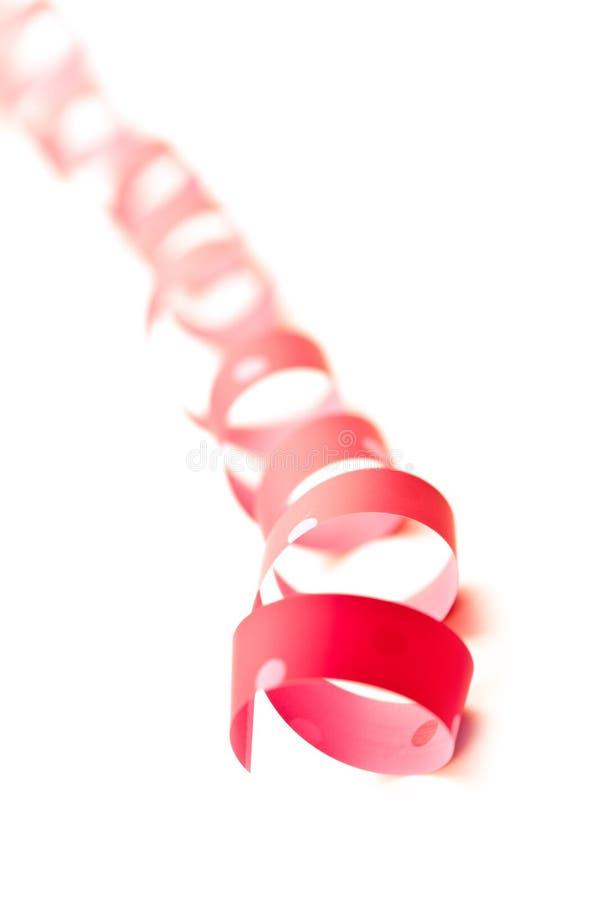 Rosa Bandserpentin stockbild