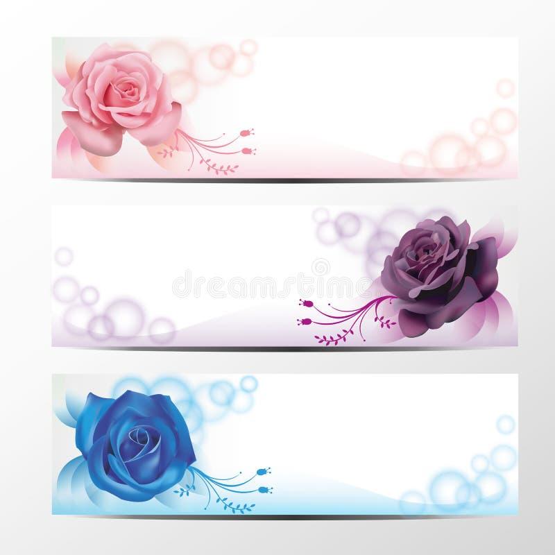 Rosa banersamling 2 royaltyfri illustrationer