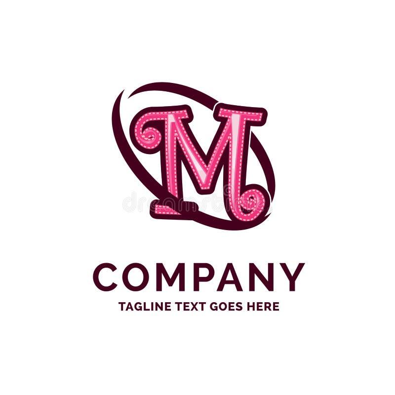 Rosa Beautity Logo Design de M Company Name Design Molde do logotipo ilustração royalty free