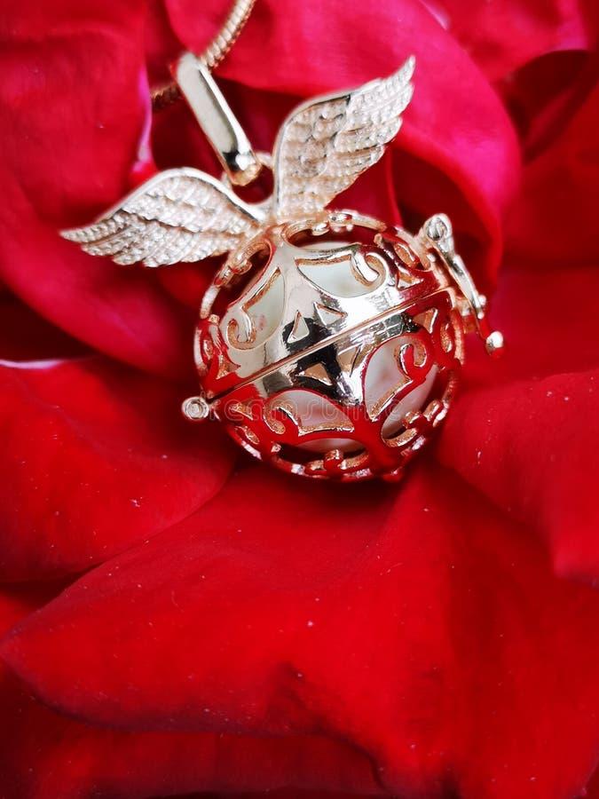 Rosa berlock royaltyfria bilder