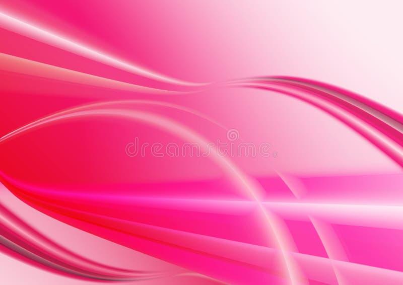 Rosa bewegt Hintergrund wellenartig vektor abbildung