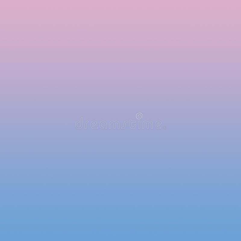 Rosa blaue Steigung Ombre-Hintergrund-Pastellzusammenfassung verwischte recht minimales Muster lizenzfreie abbildung