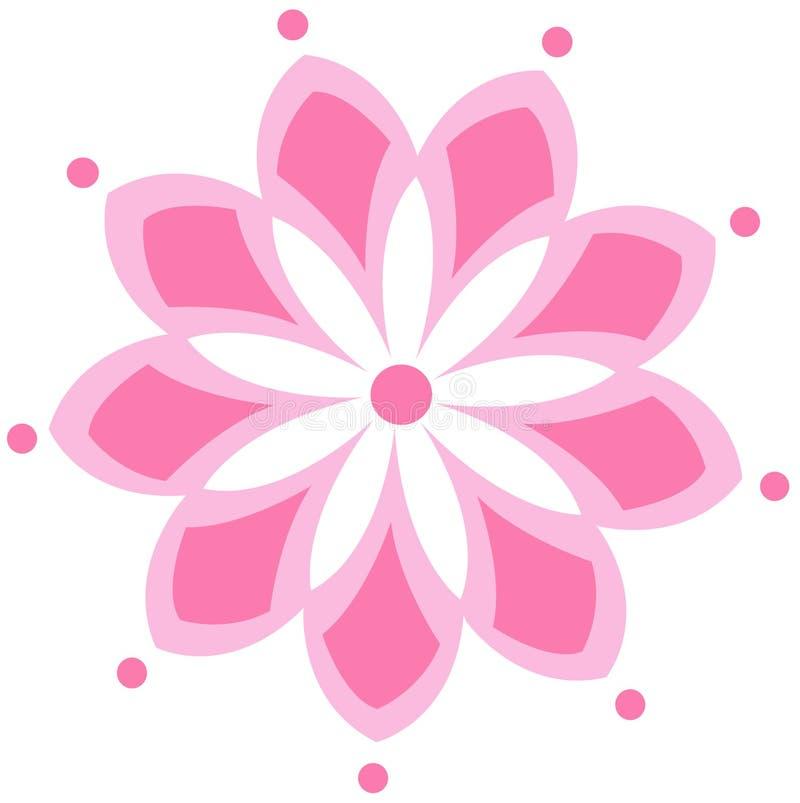 Rosa blommateckning royaltyfri illustrationer