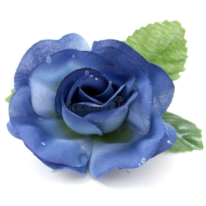 Rosa blu artificiale con il grande particolare fotografie stock libere da diritti