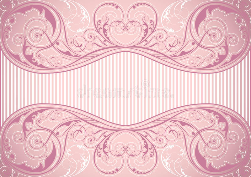 Rosa Blumenhintergrundrahmen vektor abbildung