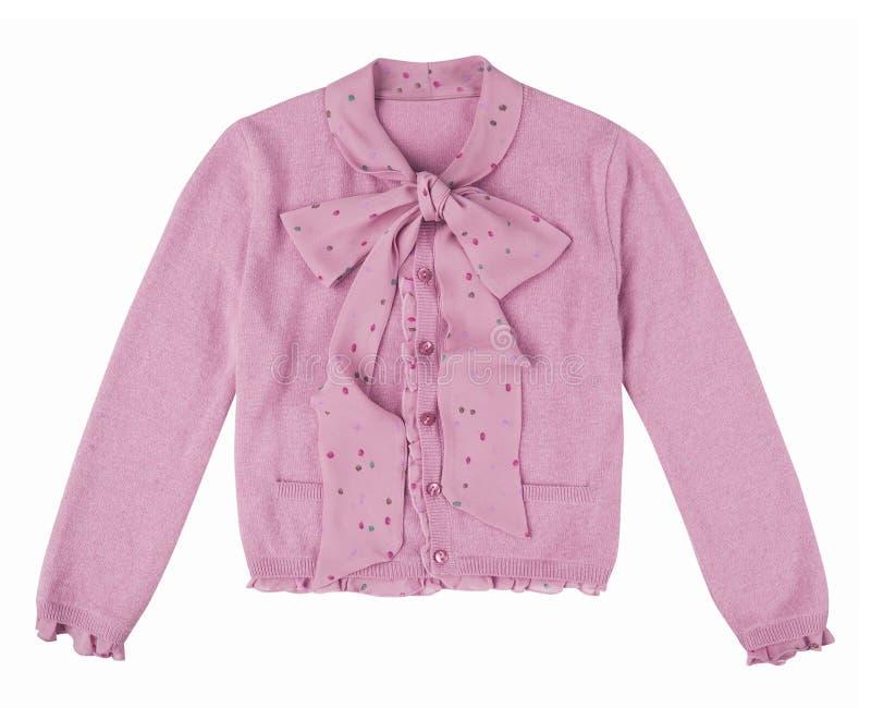 Rosa blus som isoleras på vit royaltyfria bilder