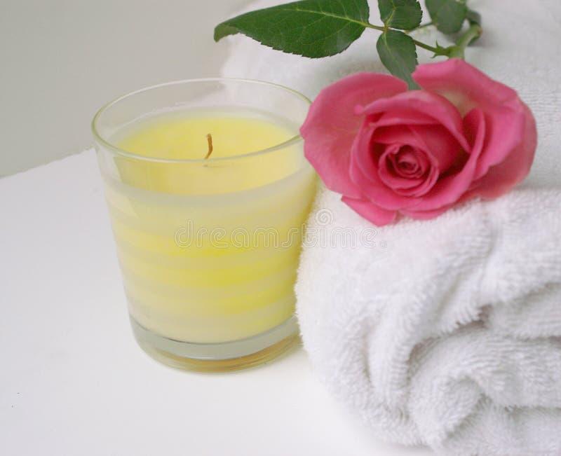 Rosa Candel imagem de stock