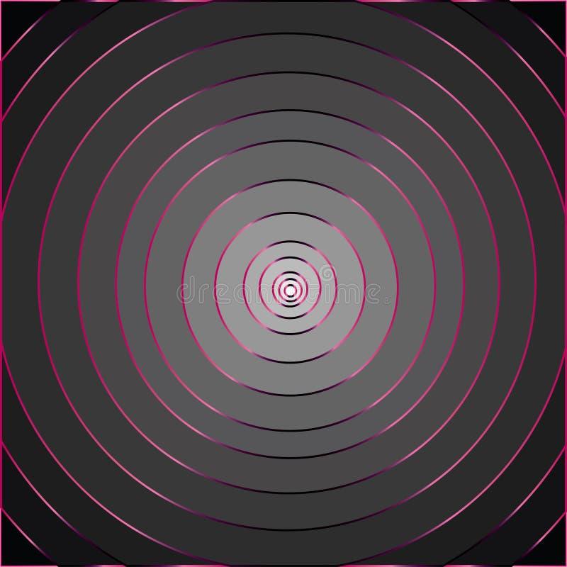 Rosa colorida dos contornos cinza ilustração stock