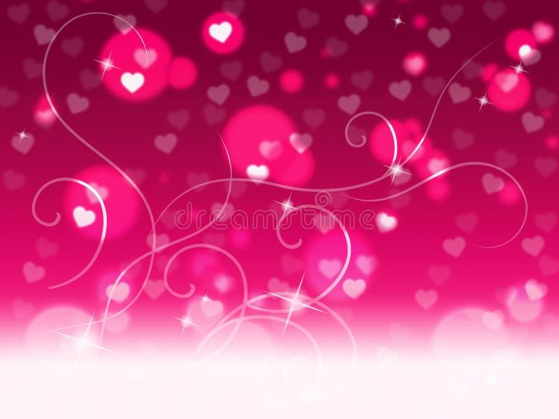 Rosa Copyspace bakgrund föreställer Valentine Day And Affection vektor illustrationer