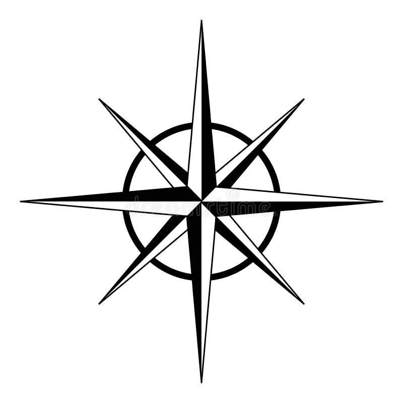 Rosa de compás ilustración del vector