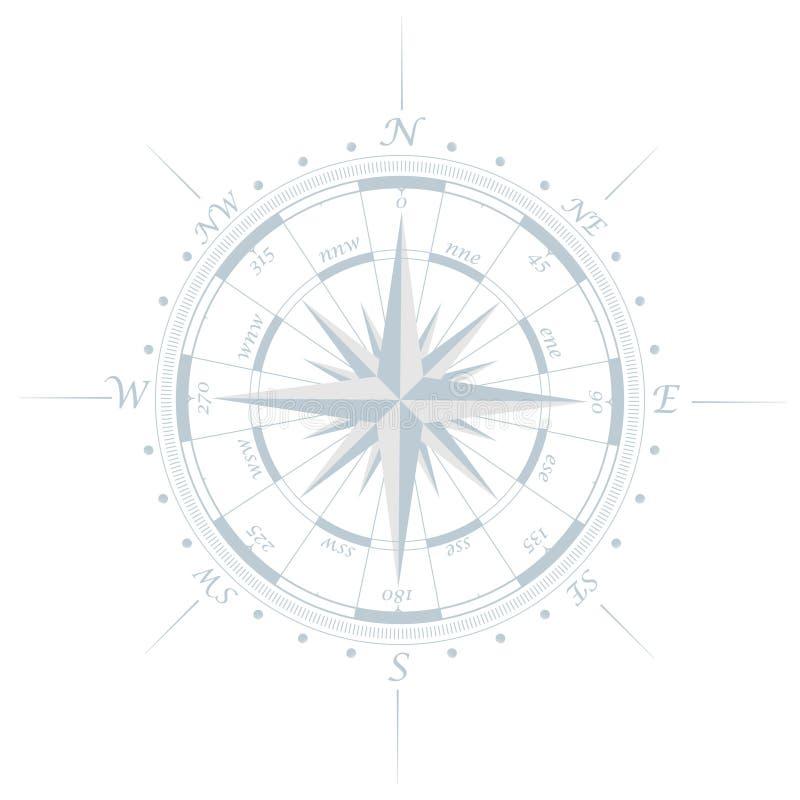 Rosa de compasso ilustração stock