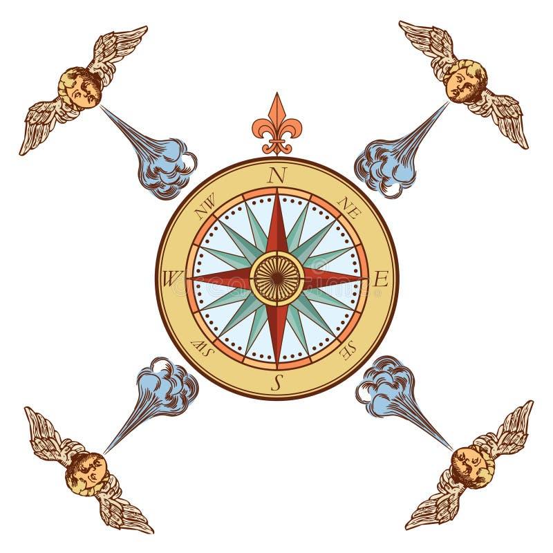 Rosa de compasso da marinha ilustração stock