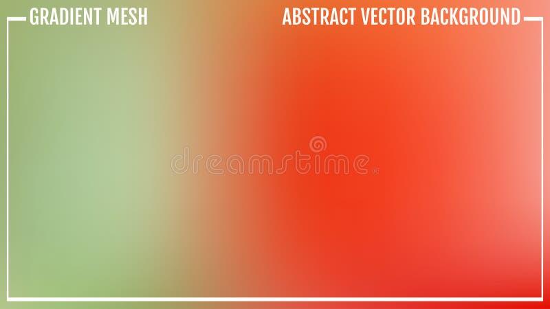 Rosa de la pendiente y fondo abstracto verde de la falta de definición del vector Colores brillantes naturales stock de ilustración