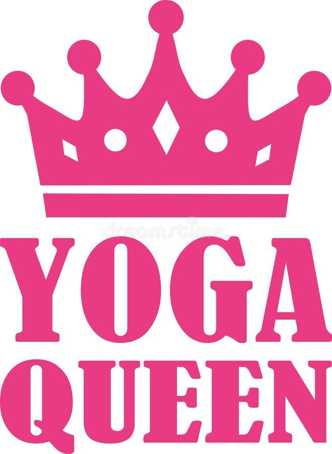 Rosa de la reina de la yoga stock de ilustración
