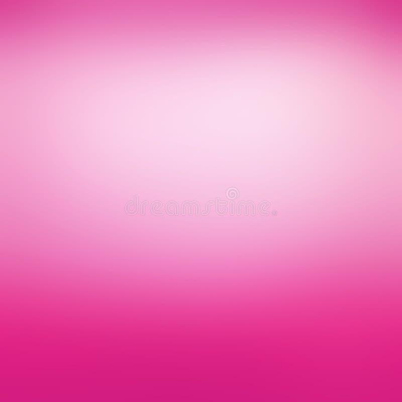 Rosa de neón caliente y fondo blanco suave con el centro nublado y el efecto borroso del diseño, fondo abstracto alegre intrépido ilustración del vector