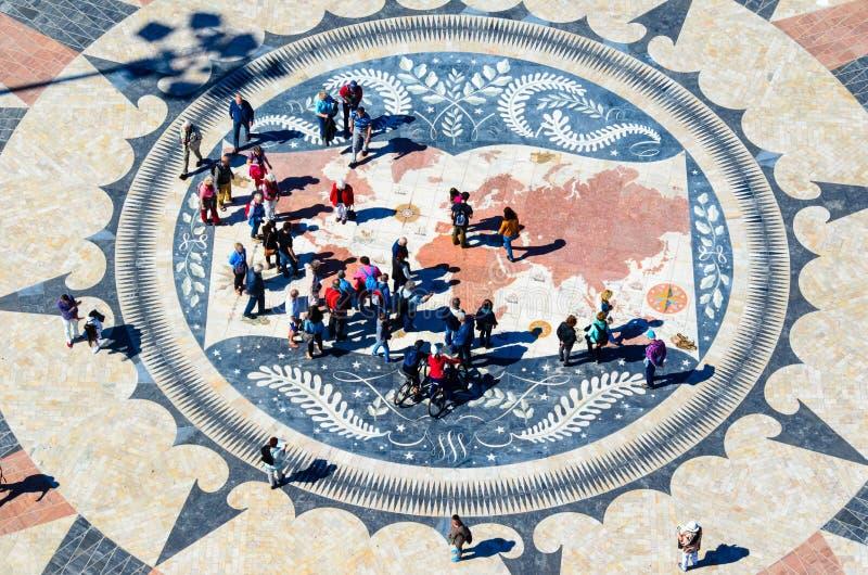 Rosa dei venti in ventos del DOS di rosa o di Lisbona immagine stock libera da diritti