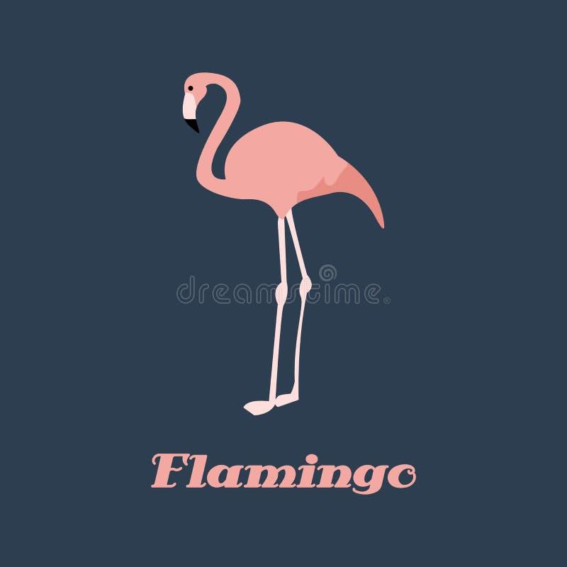Rosa del flamenco del vector libre illustration