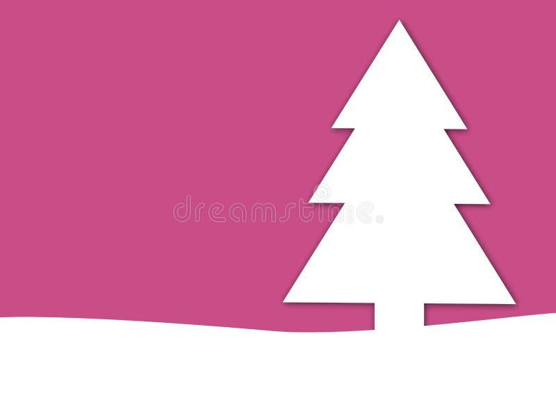 Rosa del fondo del árbol de navidad libre illustration