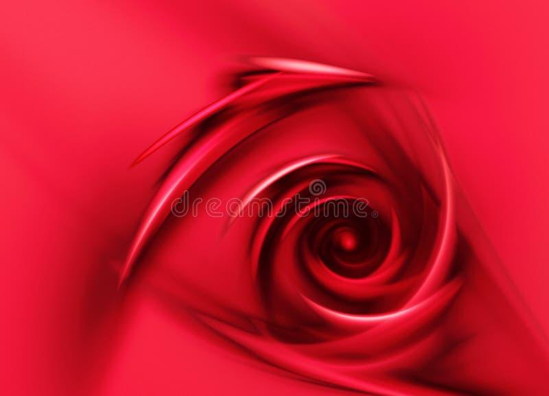 Rosa del rojo digital ilustración del vector