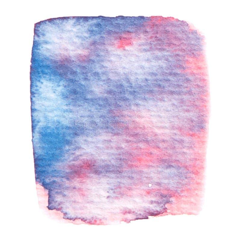 Rosa di vettore e struttura blu della pittura isolati su bianco illustrazione di stock