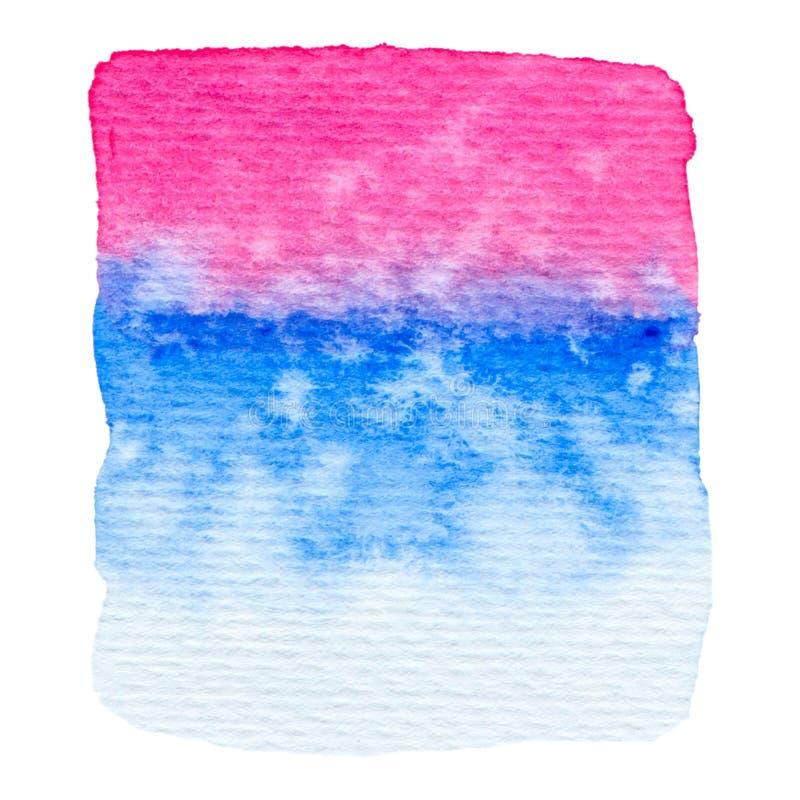 Rosa di vettore e struttura blu della pittura isolati su bianco royalty illustrazione gratis