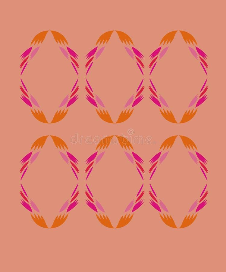 Rosa diagonal del oro de los elementos del diseño libre illustration