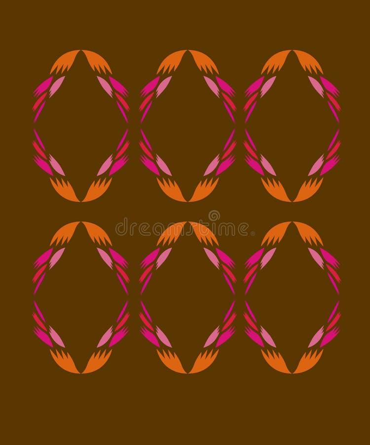 Rosa diagonale dell'oro degli elementi di progettazione illustrazione di stock