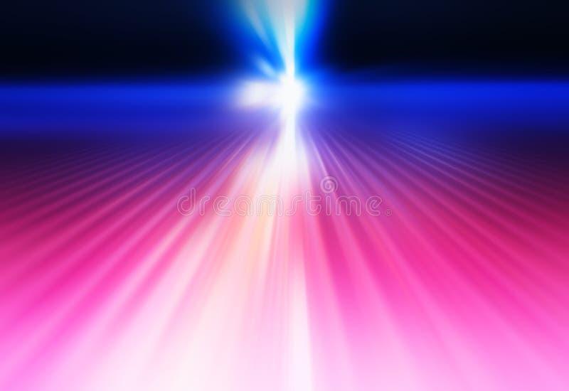 Rosa diagonale e fondo blu dei raggi luminosi della discoteca royalty illustrazione gratis