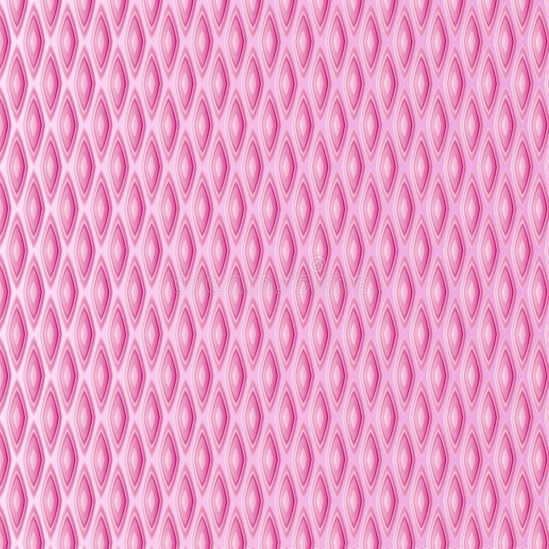 Rosa Diamantmaschenzusammenfassungshintergrundvektor-Kunstdesign vektor abbildung