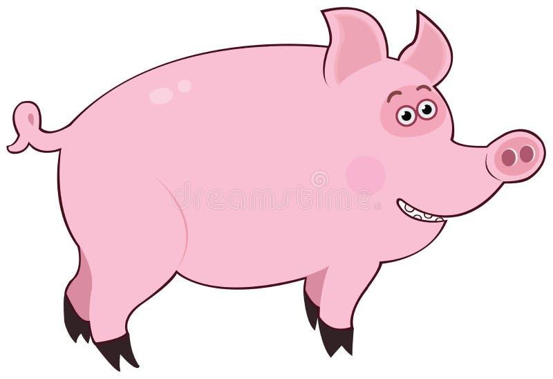 Rosa do porco ilustração stock