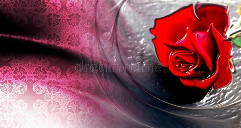 Rosa do vermelho com o papel de parede textured branco do fundo ilustração royalty free