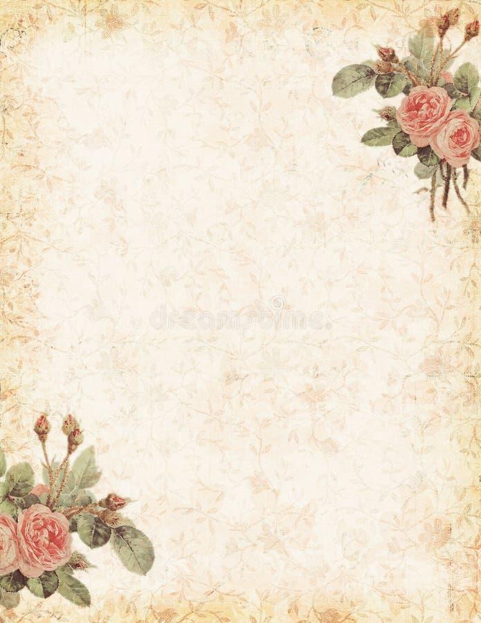 Rosa do vintage estacionária com área vazia para o texto ilustração royalty free