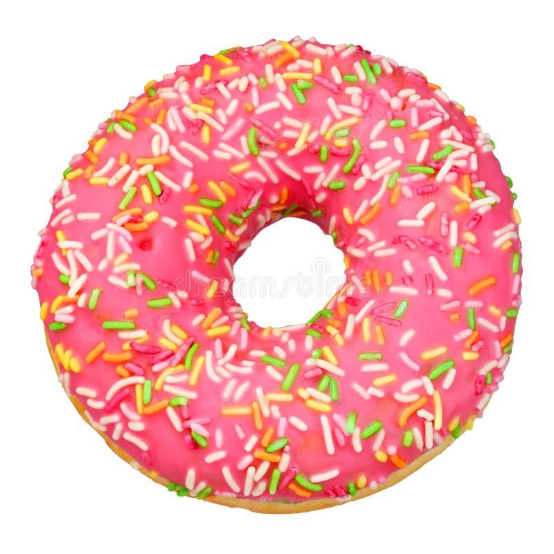 Rosa Donut lokalisiert lizenzfreie stockbilder
