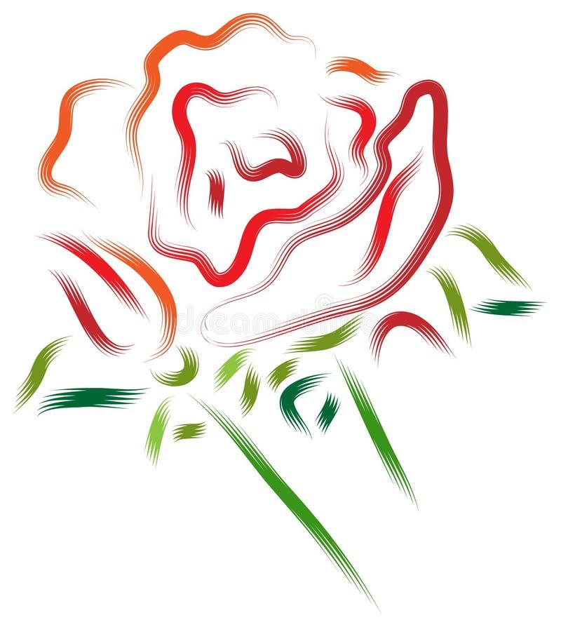 Rosa e botão ilustração do vetor