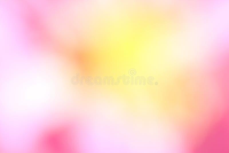 Rosa e fondo vago giallo immagini stock libere da diritti