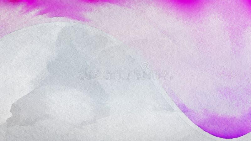 Rosa e Grey Grunge Watercolor Background Image illustrazione vettoriale