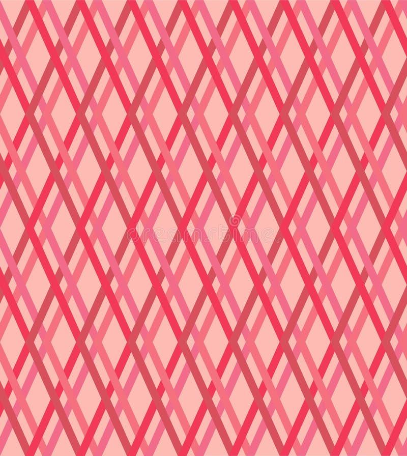Rosa e linee rosse senza cuciture modello, struttura di vettore illustrazione vettoriale