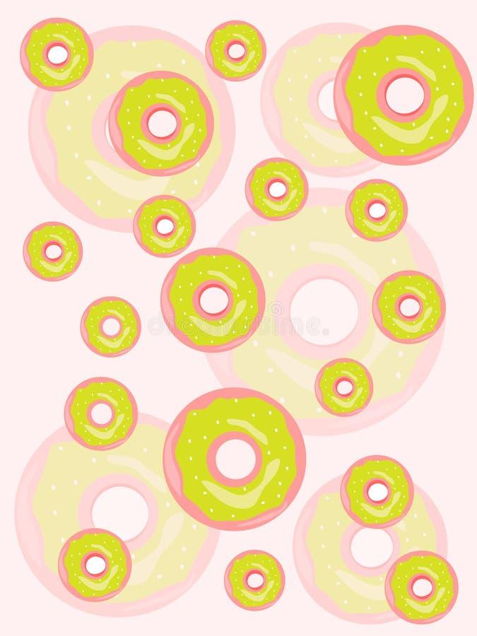 Rosa e verde do fundo do papel de parede das filhóses ilustração stock