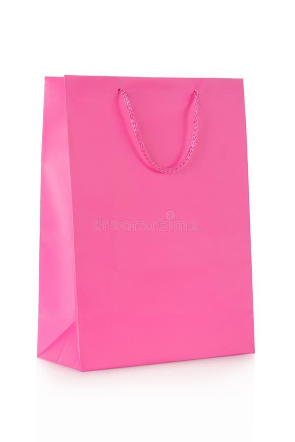 Rosa Einkaufstasche im Papier lizenzfreies stockfoto