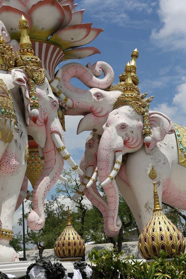 Rosa Elefant Bangkok Thailand lizenzfreies stockfoto