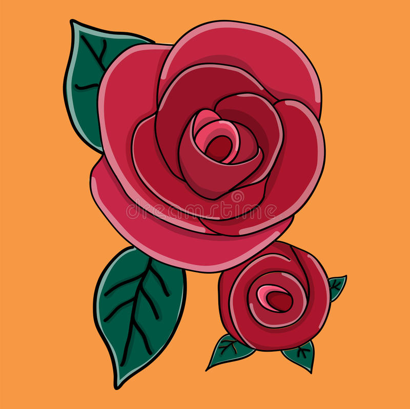 Rosa em um fundo preto imagens de stock royalty free