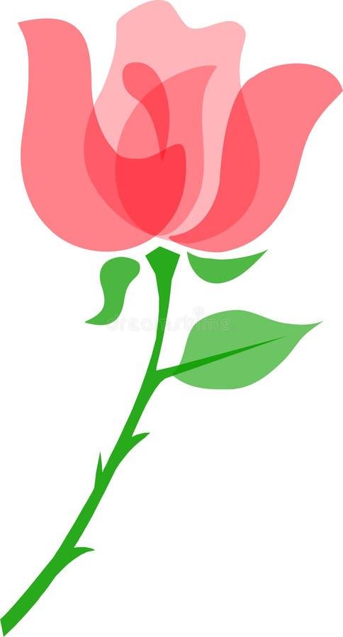 Rosa/eps ilustração stock