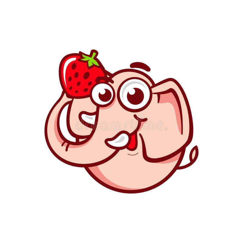 Rosa erwachsenes Elefantzeichen vektor abbildung