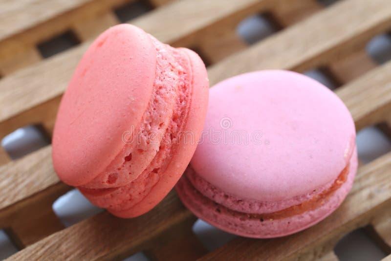 Rosa färg av makron arkivfoton