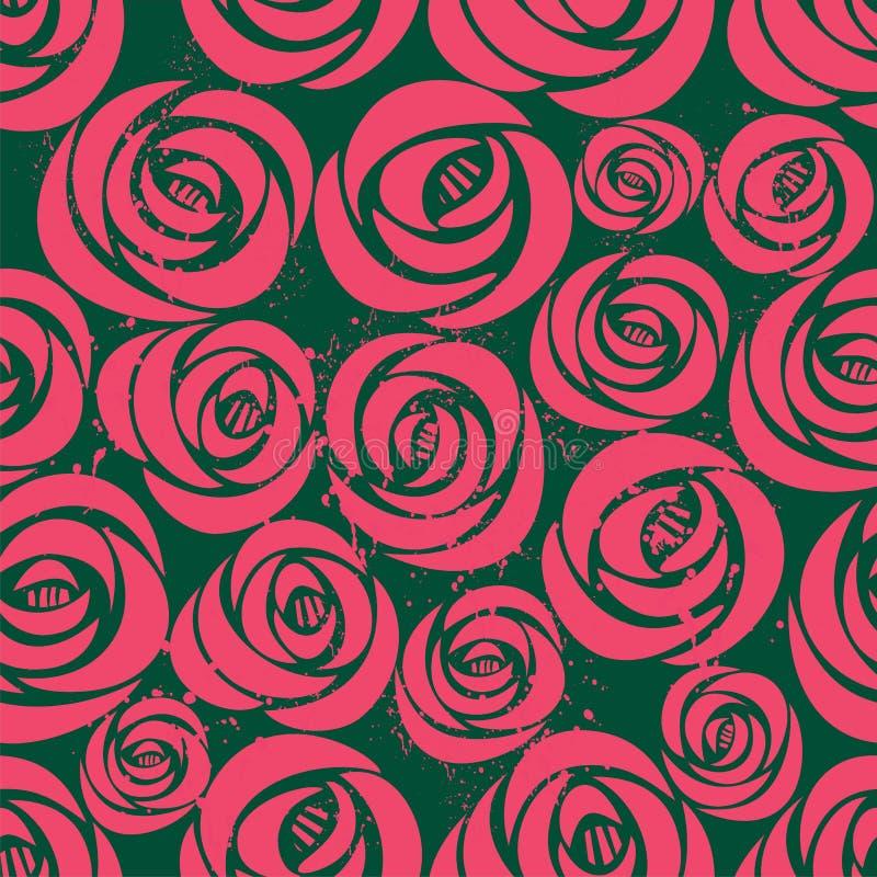Rosa färg- och gräsplanbakgrund med blomman arkivbilder